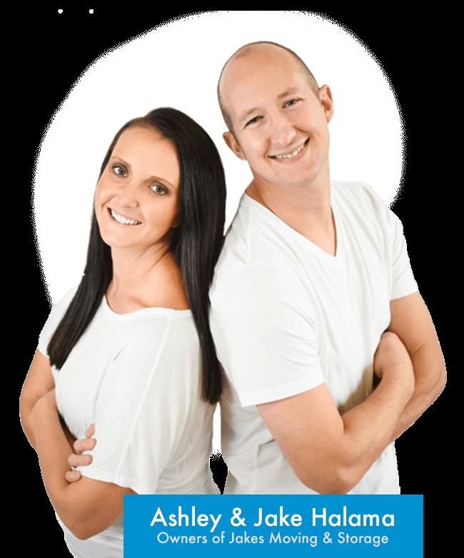 Jake & Ashley Halama - Owners of Jakes Moving and Storage